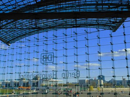 Glasfassade  Foto von Hauptbahnhof Berlin von Berlin mit Fotogalerie: Glasfassade